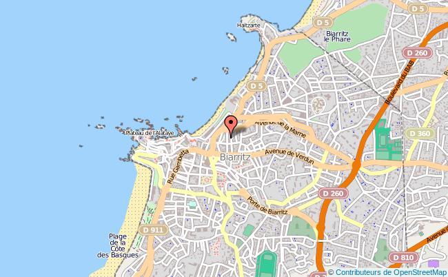 plan Caisse D'allocations Familiales Caf De Biarritz Antenne BIARRITZ