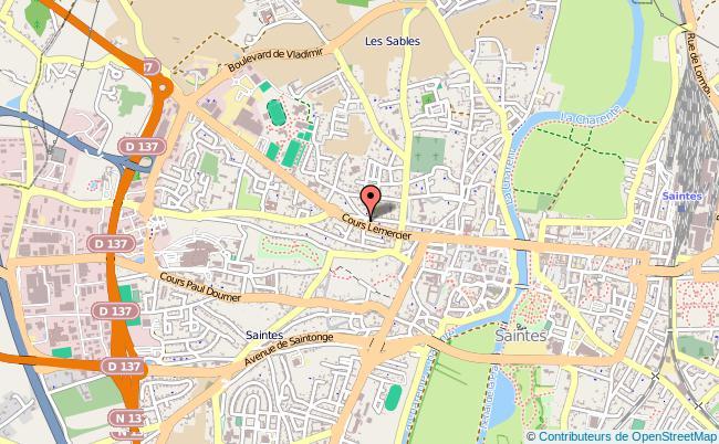 plan Caisse D'allocations Familiales Caf De Charente-maritime SAINTES