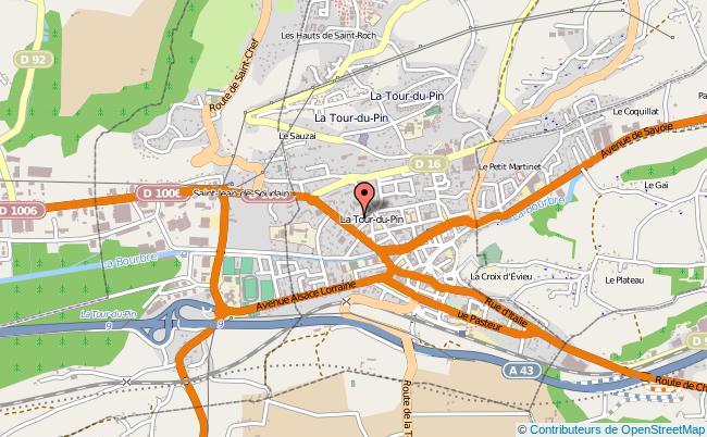 plan Caisse D'allocations Familiales Caf De La Tour-du-pin Antenne LA TOUR DU PIN