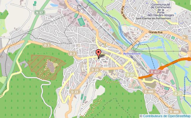 plan Caisse D'allocations Familiales Caf De Remiremont Antenne REMIREMONT