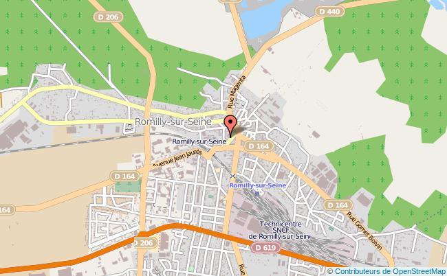 plan Caisse D'allocations Familiales Caf De Romilly-sur-seine Antenne TROYES