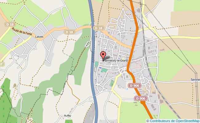 plan Caisse D'allocations Familiales Caf De Sennecey-le-grand Antenne SENNECEY LE GRAND