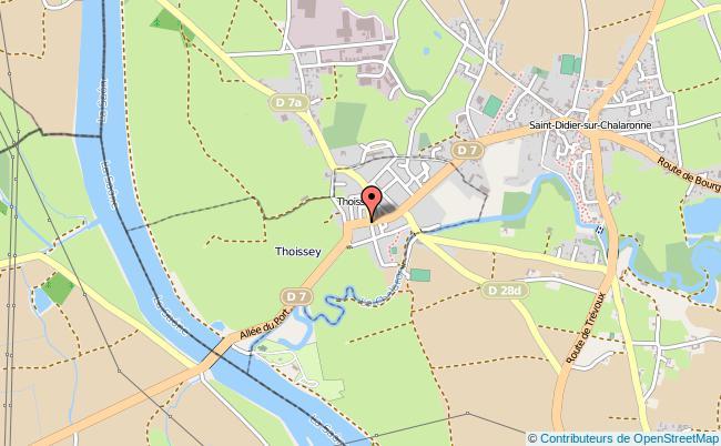 plan Caisse D'allocations Familiales Caf De Thoissey Antenne THOISSEY