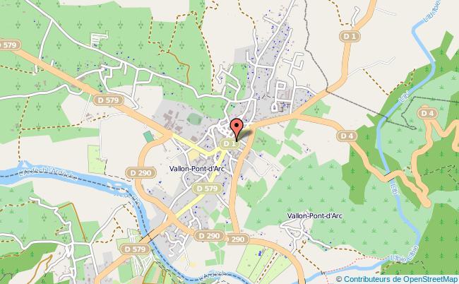 plan Caisse D'allocations Familiales Caf De Vallon-pont-d'arc Antenne VALLON PONT D ARC