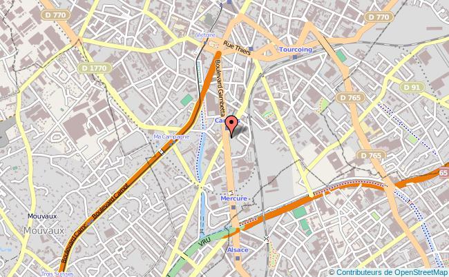 plan Centre Afpa De Tourcoing TOURCOING CEDEX
