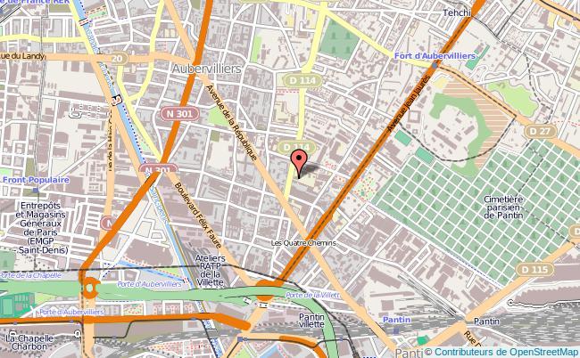 plan Centre D'information Et D'orientation De Aubervilliers AUBERVILLIERS