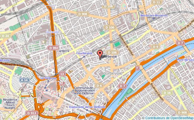 plan Centre D'information Et D'orientation De Courbevoie COURBEVOIE