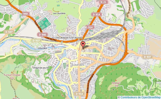 plan Centre D'information Et D'orientation De Lourdes LOURDES