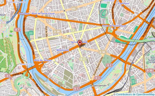 plan Centre D'information Sur Les Droits Des Femmes Et Des Familles Des Hauts De Seine, Boulogne Billancourt BOULOGNE BILLANCOURT CEDEX