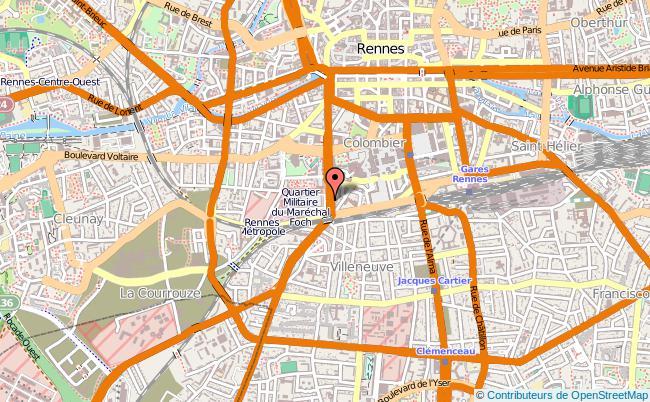 plan Centre Du Service National De Rennes Rennes