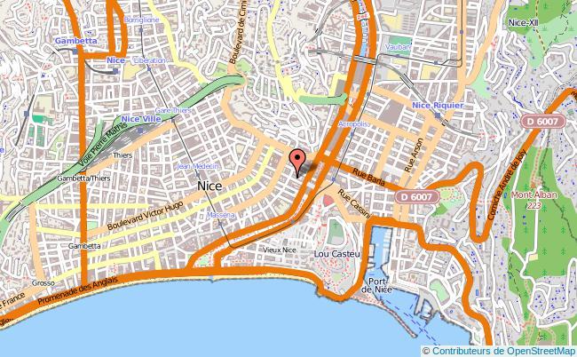 plan Centre Régional Information Jeunesse De Provence-alpes-côte D'azur NICE