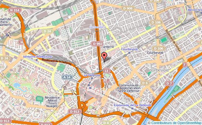 plan Mission Locale De Courbevoie-la-garenne-colombes-bois-colombes COURBEVOIE