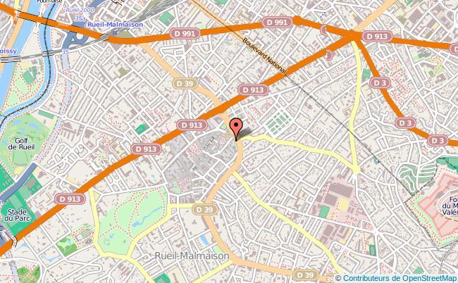 plan Mission Locale De Rueil-malmaison-garches-vaucresson-saint-cloud RUEIL MALMAISON