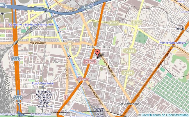 plan Point Information Jeunesse D'aubervilliers AUBERVILLIERS