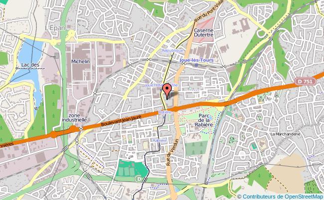 plan Point Information Jeunesse De Joué-lès-tours JOUE LES TOURS
