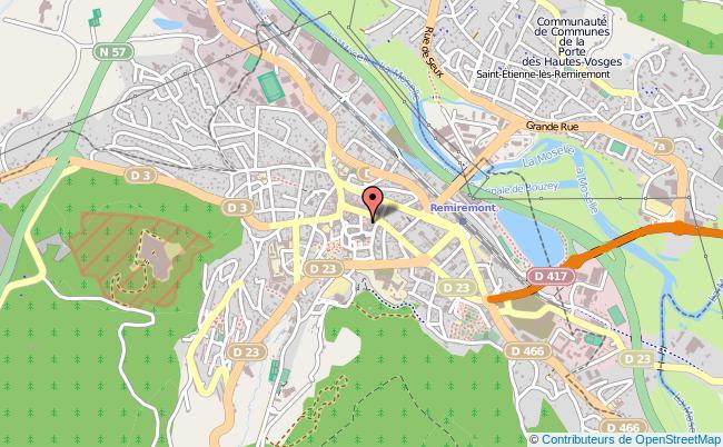 plan Point Information Jeunesse De Remiremont REMIREMONT