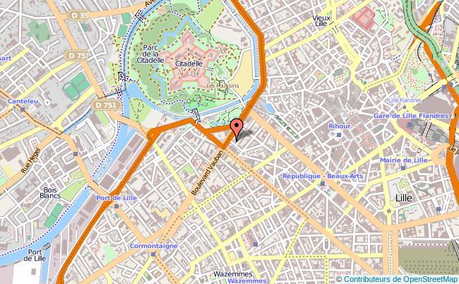 plan Tribunal D'instance De Lille LILLE CEDEX