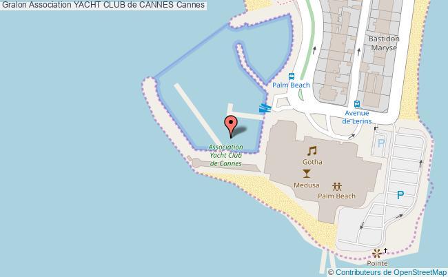 plan Association Yacht Club De Cannes