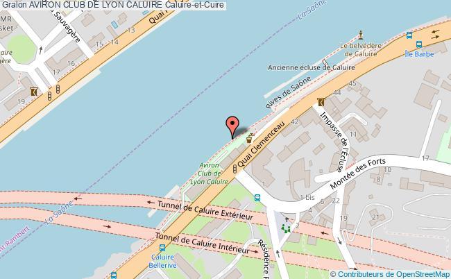 plan Aviron Club De Lyon Caluire