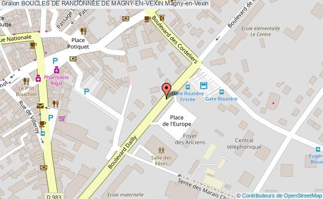 plan Boucle De Randonnée Magny, Saint-gervais, Blamécourt, Etrez (v7)