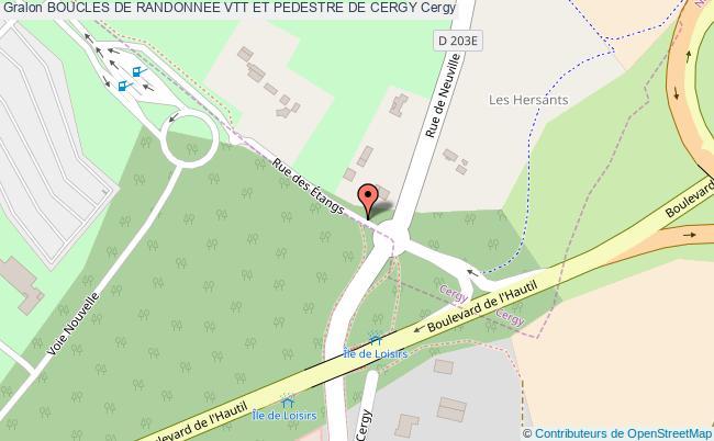 plan Boucle De Randonnée Vtt Et Pédestre Circuit Boucle De L'oise (pp1n-2)