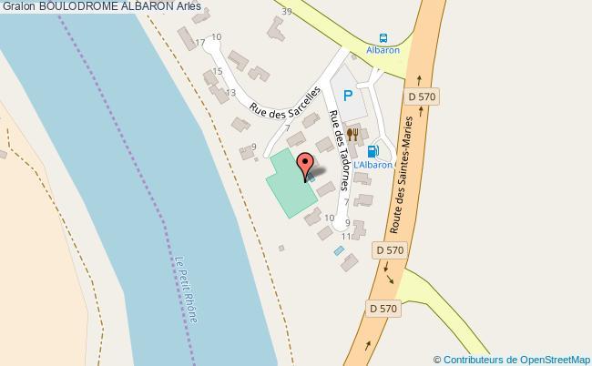 plan Boulodrome Albaron