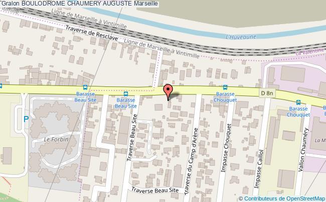 plan Boulodrome Chaumery Auguste