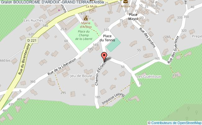 plan Boulodrome D'ardoix - Grand Terrain