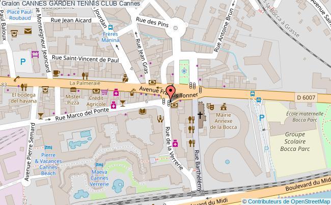 plan Cannes Garden Tennis Club Quick