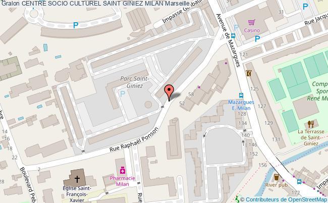 plan Centre Social St Giniez Milan