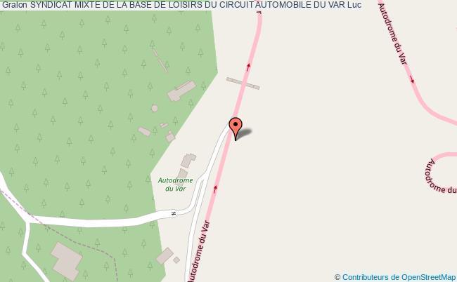 plan Circuit De La Base De Loisirs Du Var