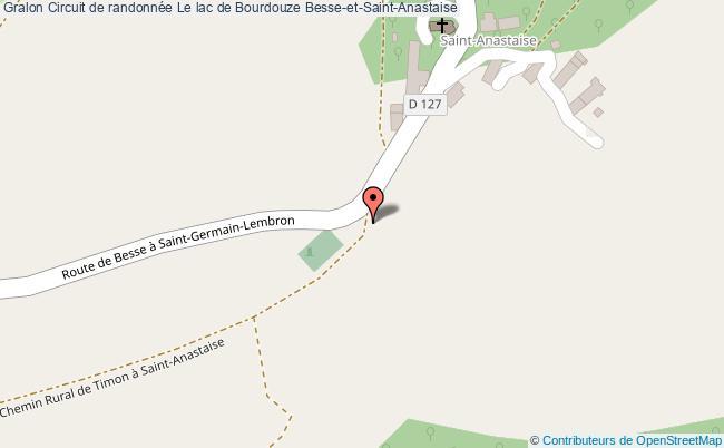 plan Circuit Le Lac De Bourdouze