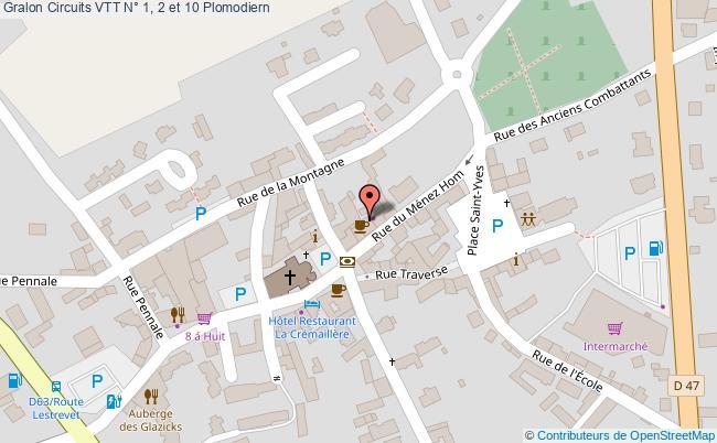 plan Circuit Vtt N° 10 : De Sainte Marie à Saint Corentin