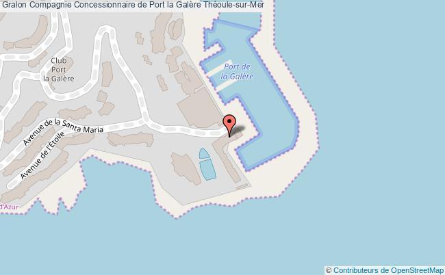 plan Compagnie Concessionnaire De Port La Galère