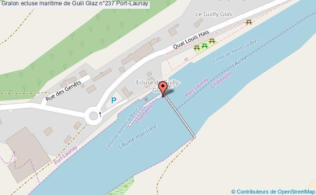 plan Ecluse Maritime De Guili Glaz