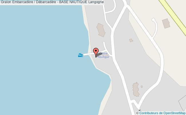plan Embarcadère / Débarcadère - Base Nautique