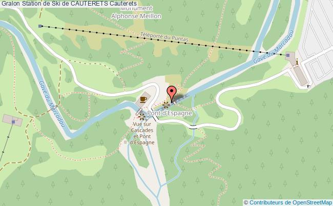 plan Espace Nordique Du Pont D'espagne