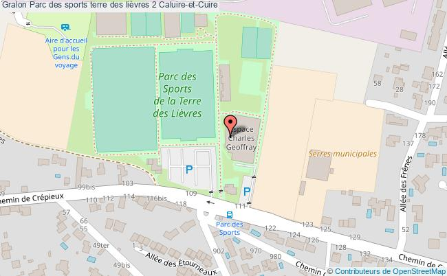 plan Espace Sportif Charles Geoffrey - Salle Bleu