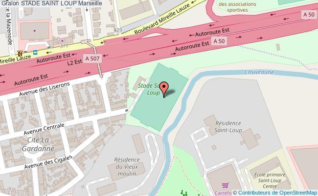 plan Grand Stade De Football St Loup