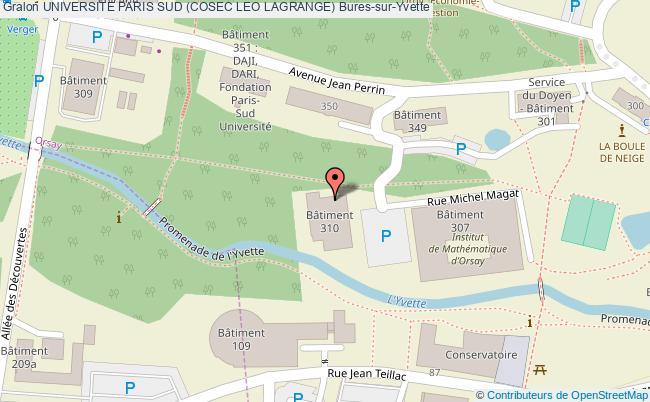 Gymnase 310 universite paris sud cosec leo lagrange for Plan bures sur yvette