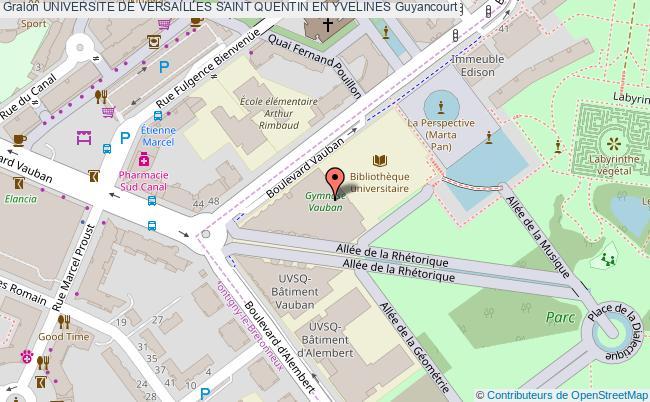 Gymnase vauban universite de versailles saint quentin en for Carte touristique yvelines