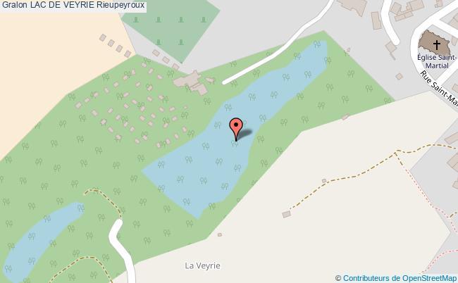 plan Lac De    Veyrie