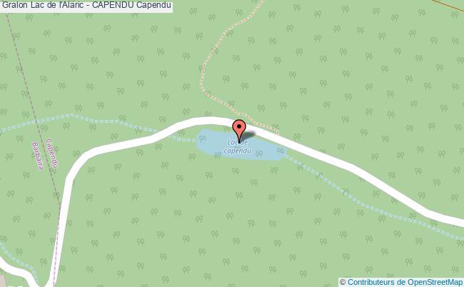 plan Lac De L'alaric - Capendu