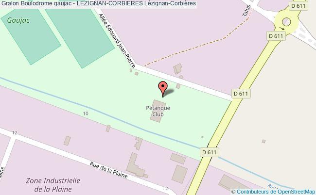plan Le Boulodrome Couvert De Gaujac - Lezignan-corbieres