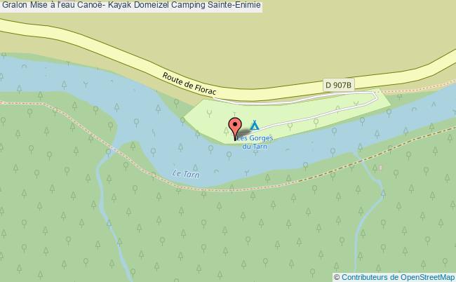 plan Mise à L'eau Canoë- Kayak Domeizel Camping