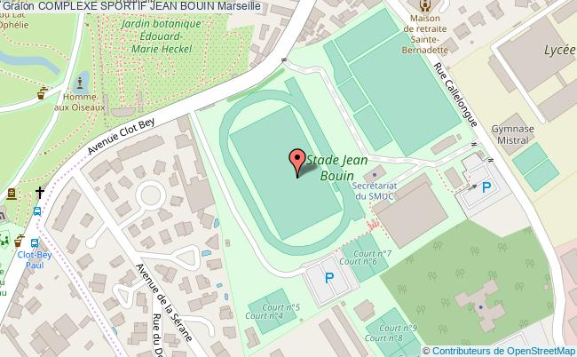 plan Parc D'athletisme  Jean Bouin