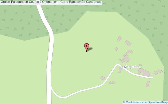 plan Parcours De Course D'orientation - Carte Randonnée