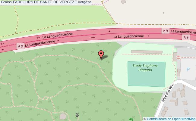 plan Parcours De Sante De Vergeze
