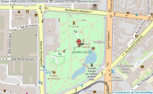 Parcours permanent d 39 orientation du jardin lecoq parcours - Deco bordure de jardin clermont ferrand ...