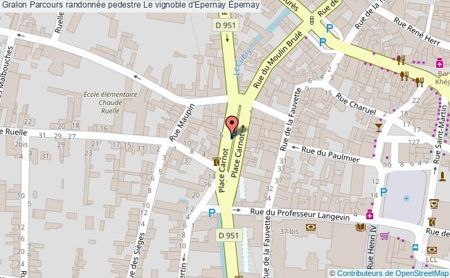 Parcours randonn e pedestre le vignoble d 39 epernay parcours for Plan d epernay